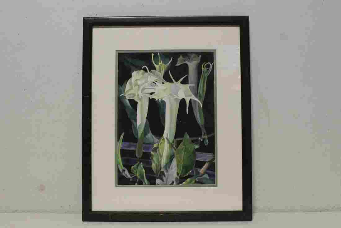 A beautiful framed watercolor, signed