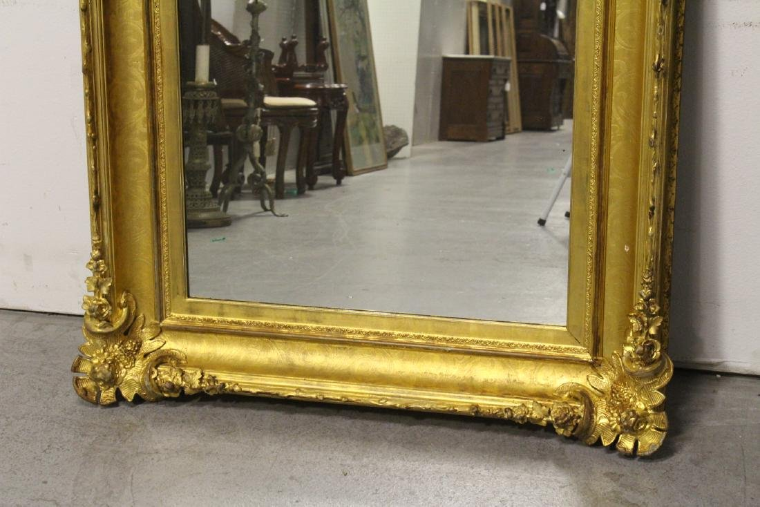 A beautiful antique gilt wood large mirror - 2