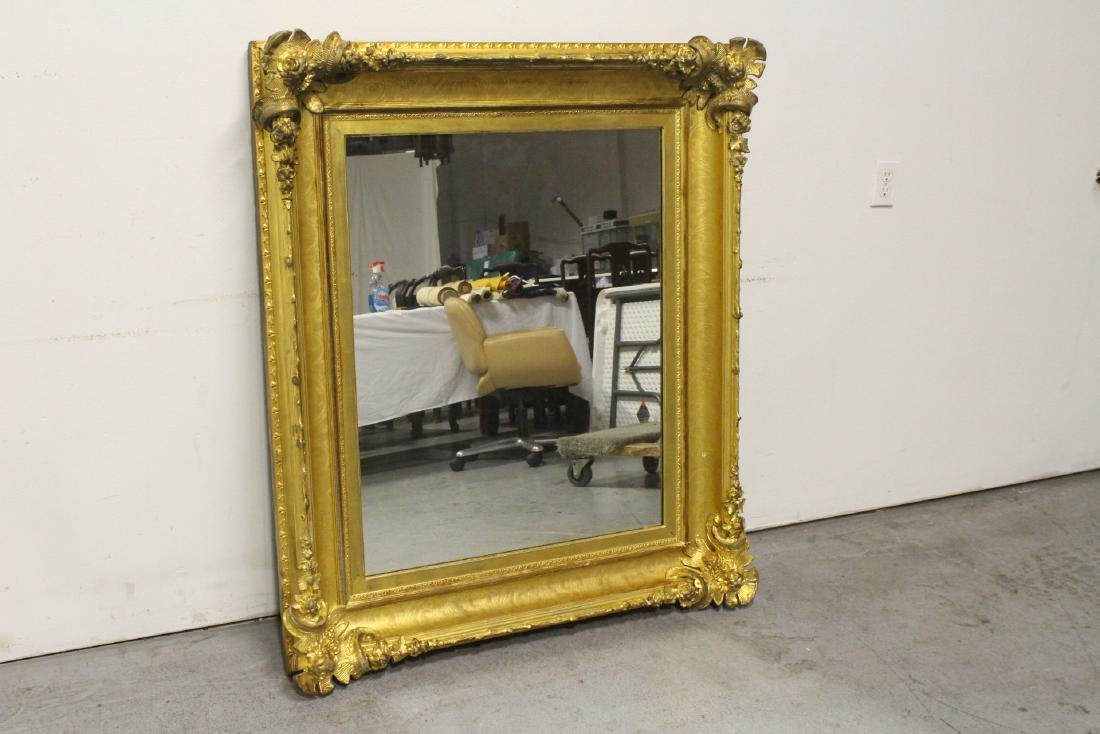 A beautiful antique gilt wood large mirror - 4