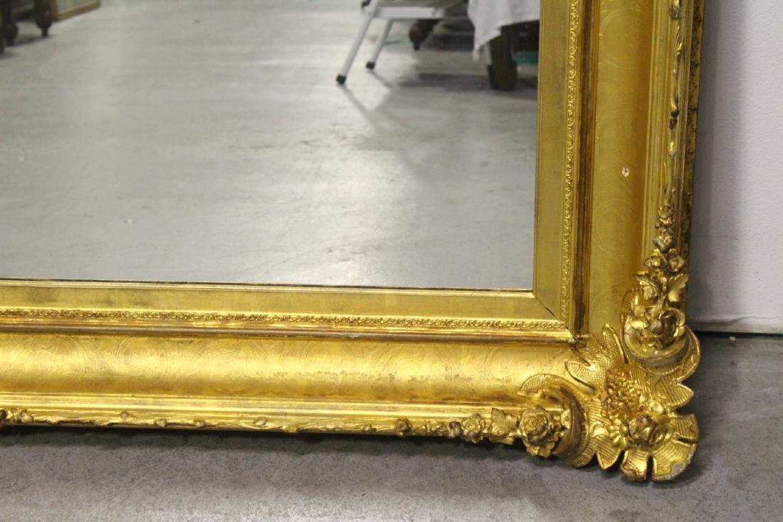 A beautiful antique gilt wood large mirror - 5