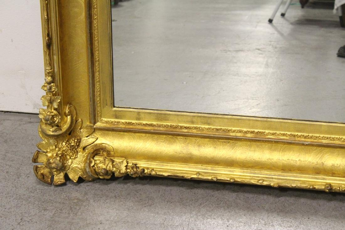 A beautiful antique gilt wood large mirror - 6
