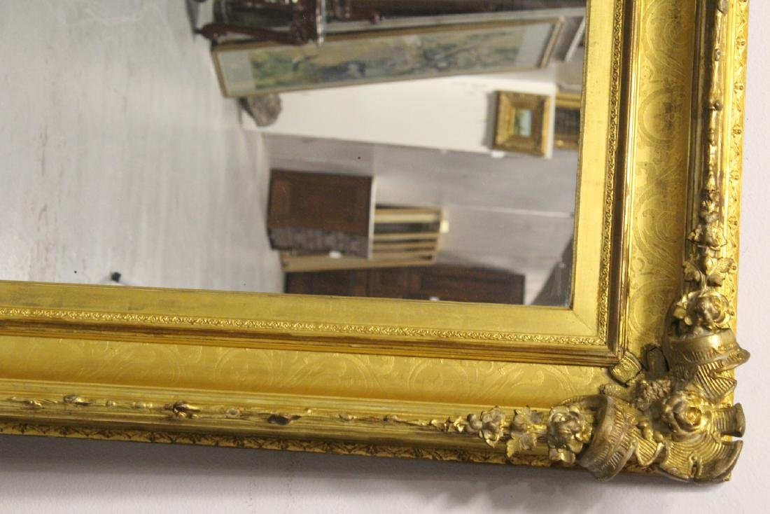 A beautiful antique gilt wood large mirror - 7
