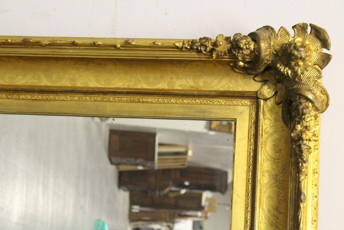 A beautiful antique gilt wood large mirror - 8