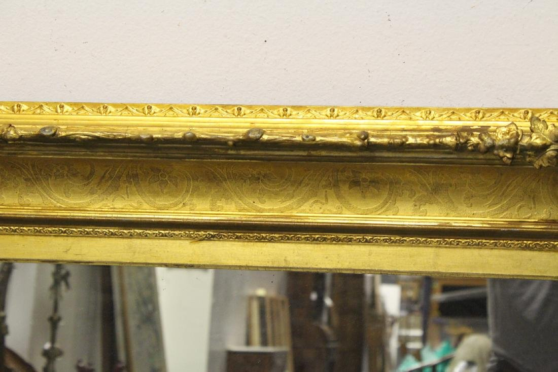 A beautiful antique gilt wood large mirror - 9