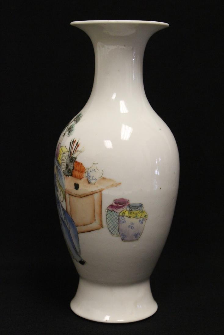 Chinese antique famille rose porcelain vase - 2