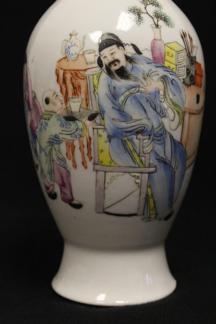 Chinese antique famille rose porcelain vase - 8