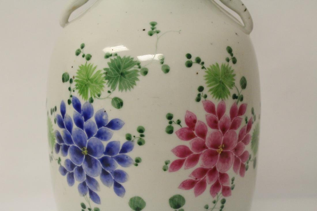 Chinese 19th/20th century famille rose porcelain vase - 10
