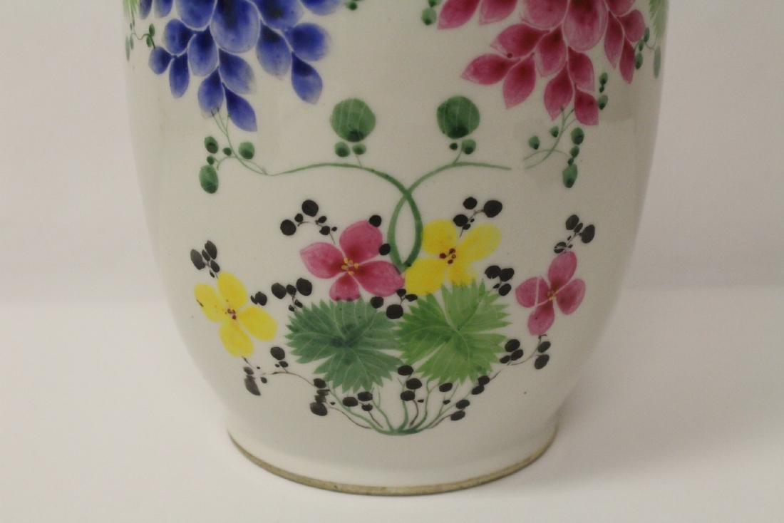 Chinese 19th/20th century famille rose porcelain vase - 9