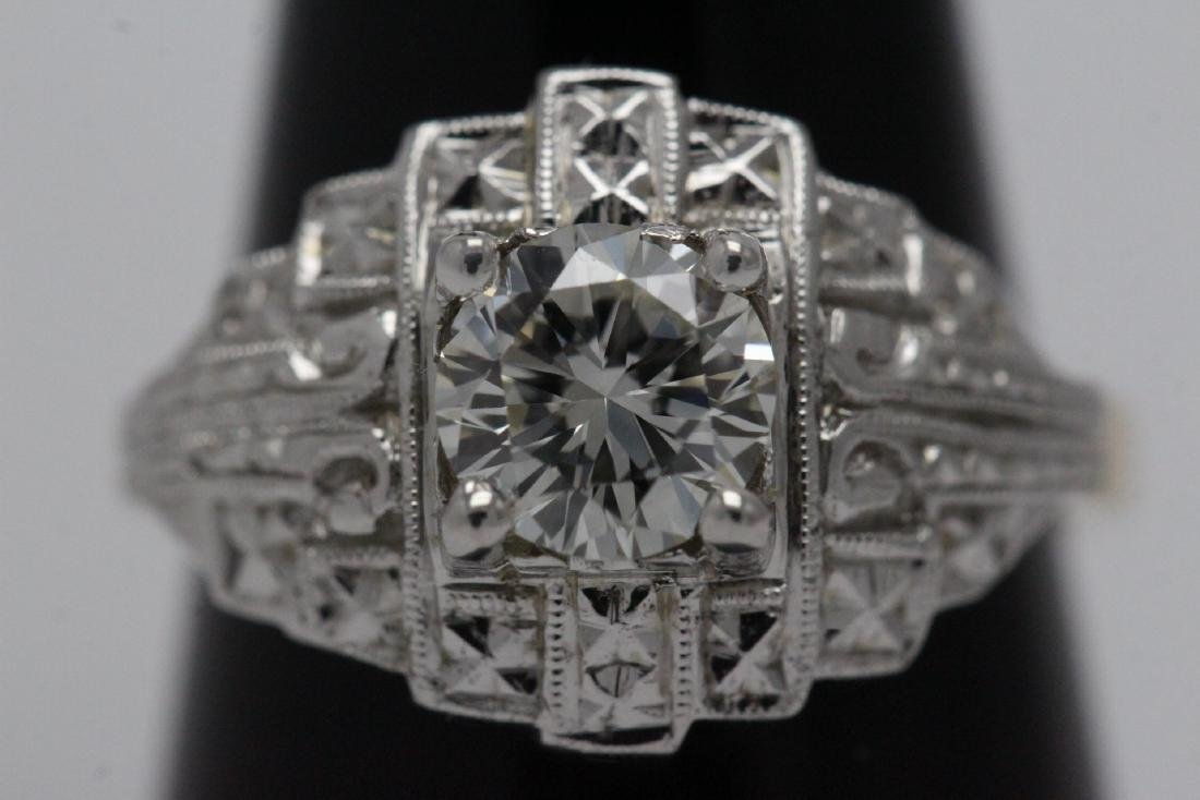 14K W/G and Y/G diamond ring w/ GIA certificate - 2