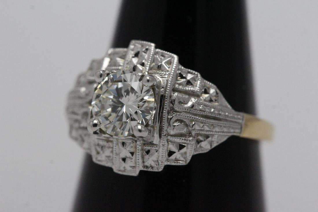 14K W/G and Y/G diamond ring w/ GIA certificate - 3