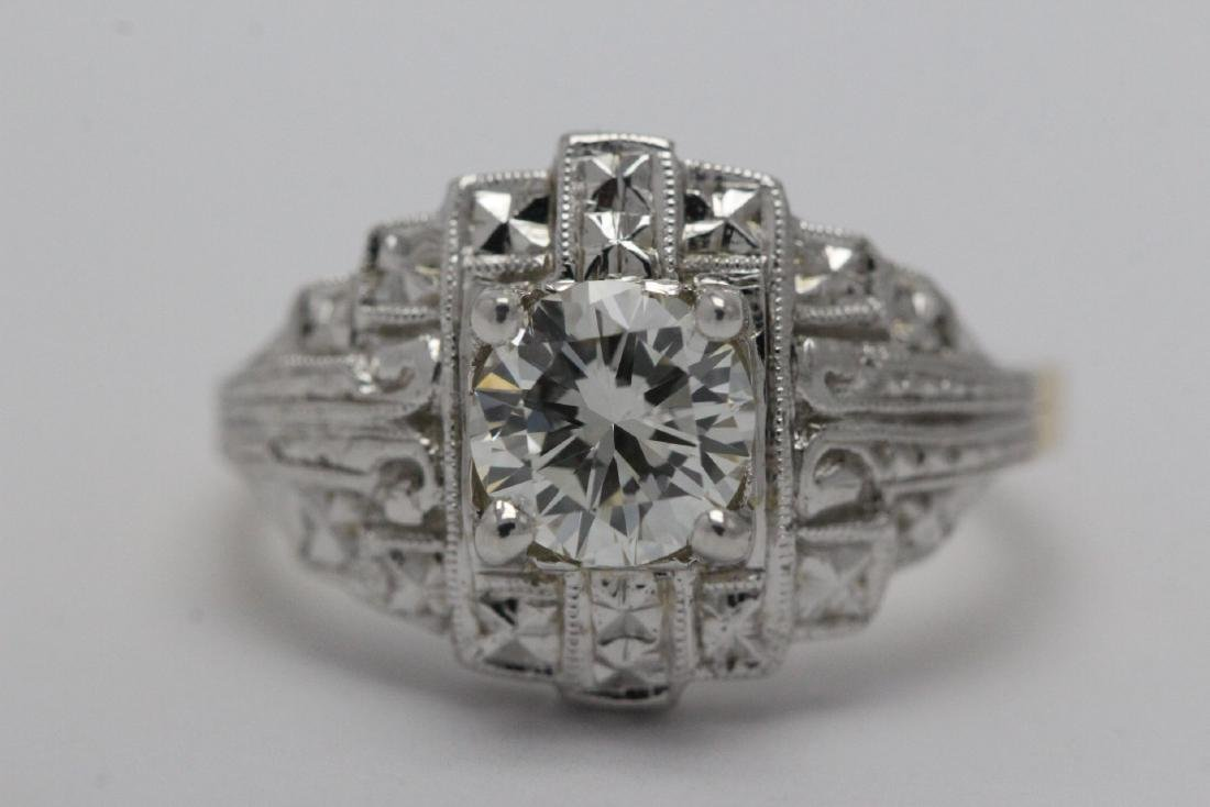 14K W/G and Y/G diamond ring w/ GIA certificate - 6