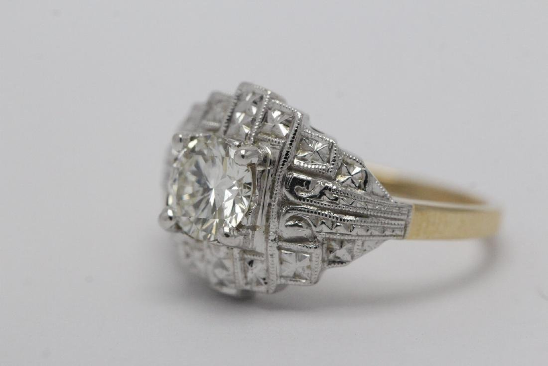 14K W/G and Y/G diamond ring w/ GIA certificate - 7
