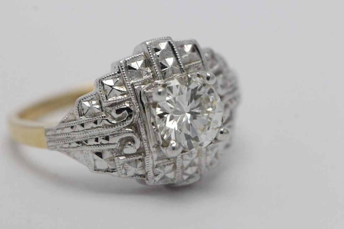 14K W/G and Y/G diamond ring w/ GIA certificate - 8