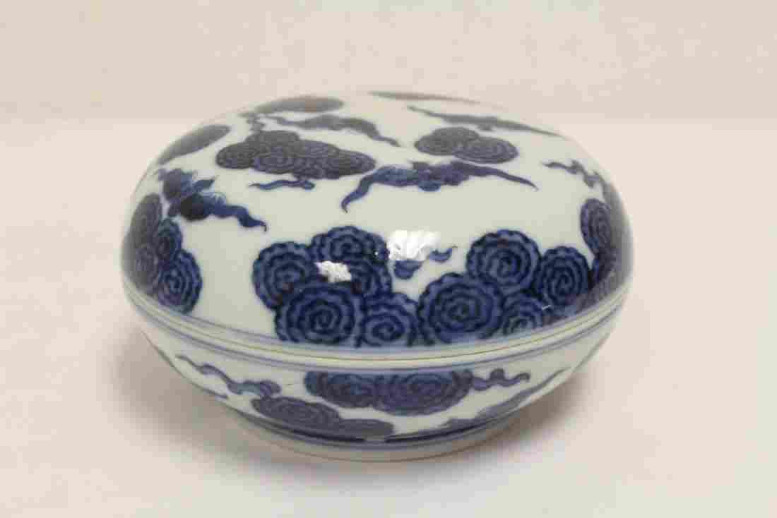 Chinese blue and white box