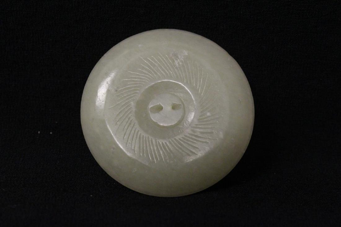 4 Chinese celadon jade carved ornaments - 6