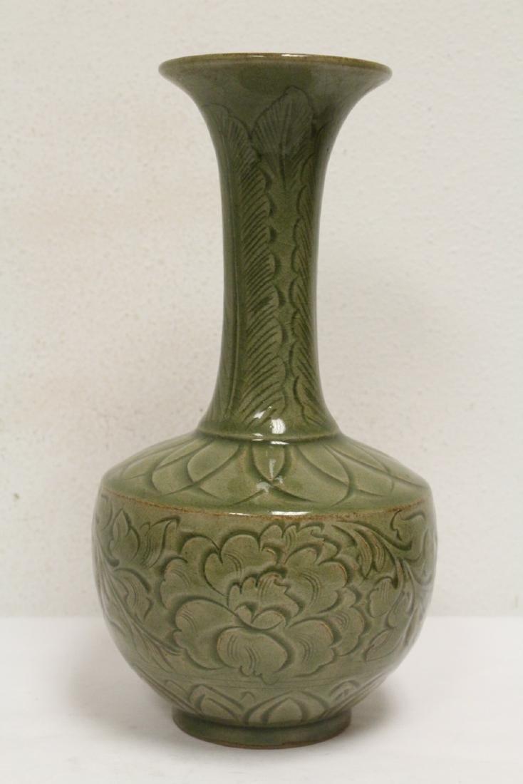 A fine Chinese celadon vase