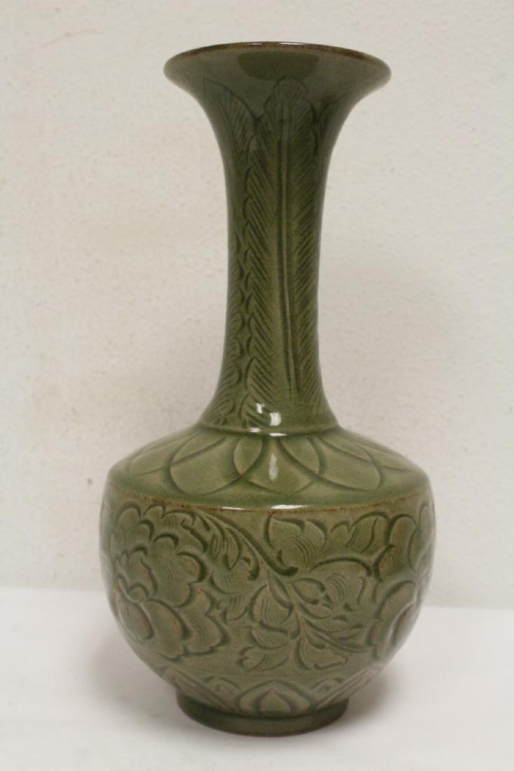 A fine Chinese celadon vase - 3