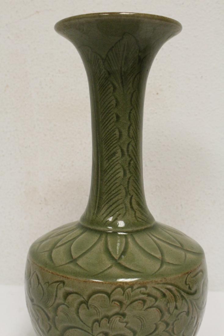 A fine Chinese celadon vase - 7