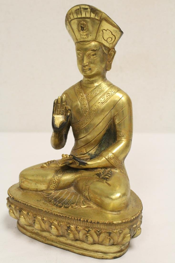Chinese gilt bronze sculpture - 9