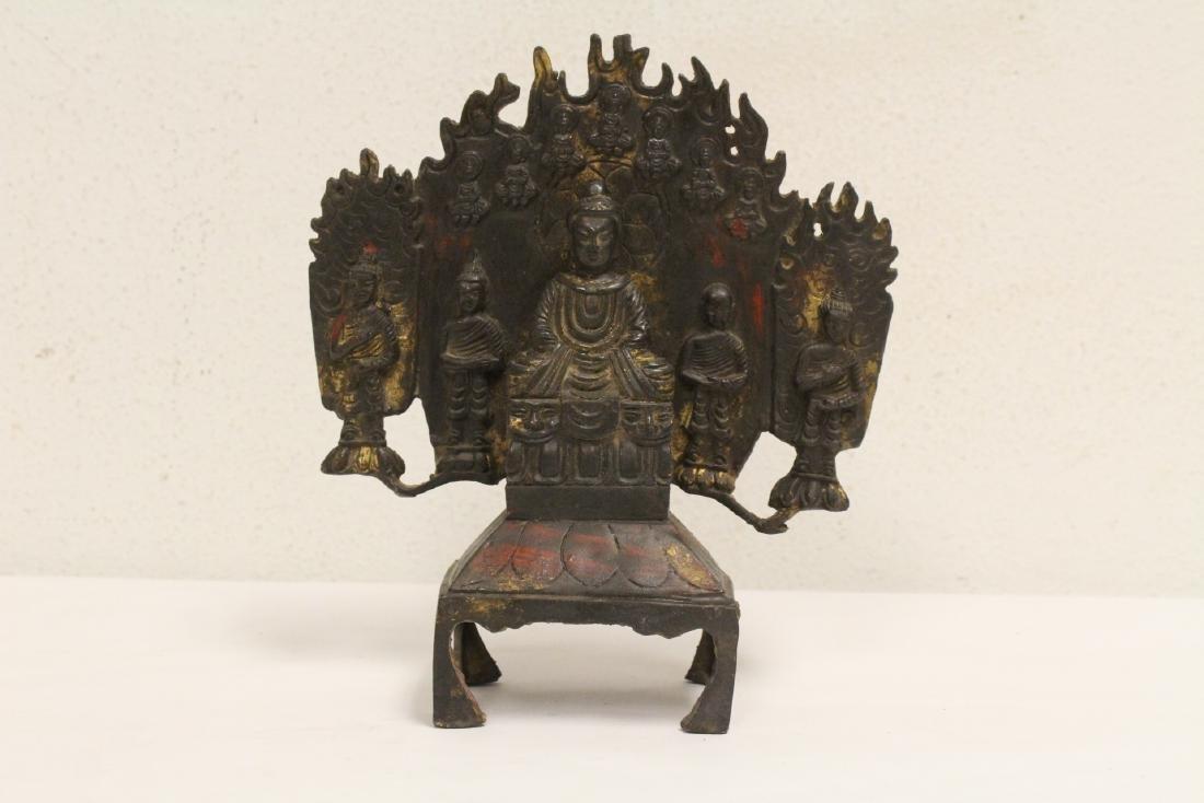 Chinese bronze sculpture of Buddha