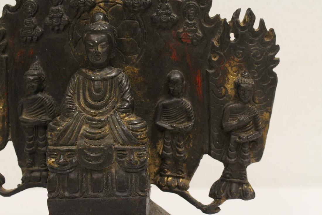 Chinese bronze sculpture of Buddha - 8