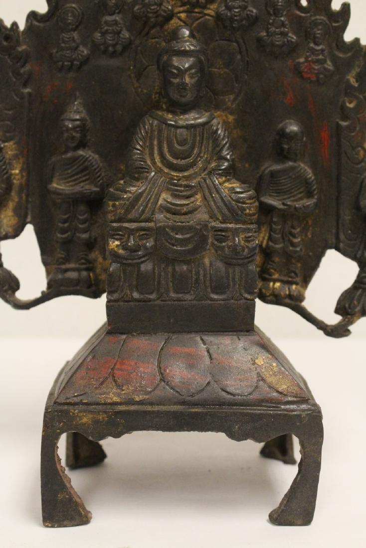 Chinese bronze sculpture of Buddha - 9