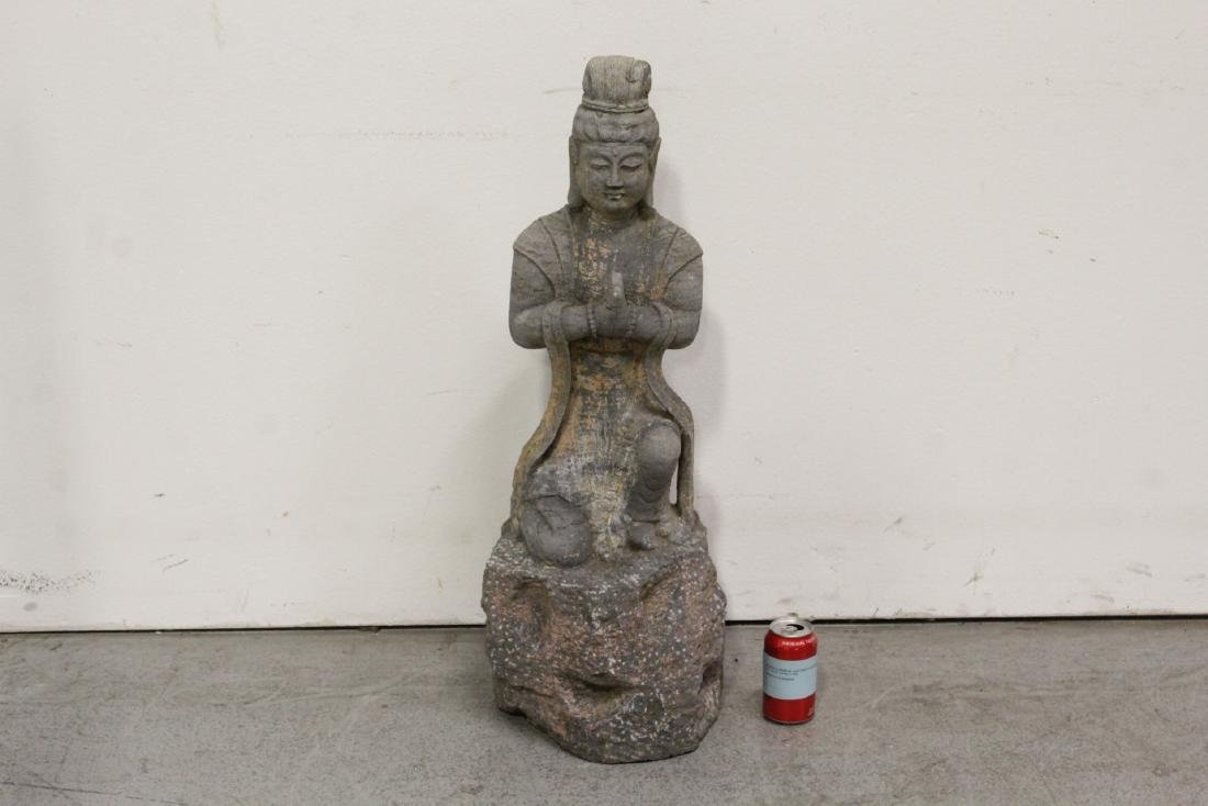 A fine Chinese stone carved standing Buddha