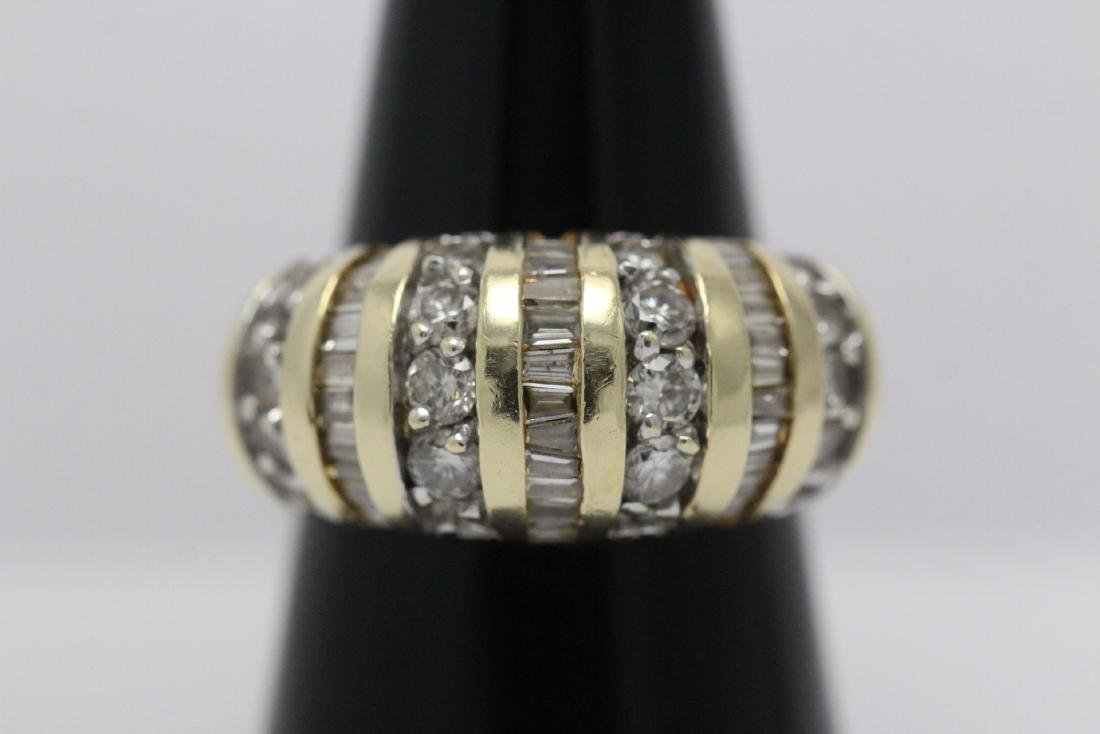 A beautiful 14K Y/G diamond ring