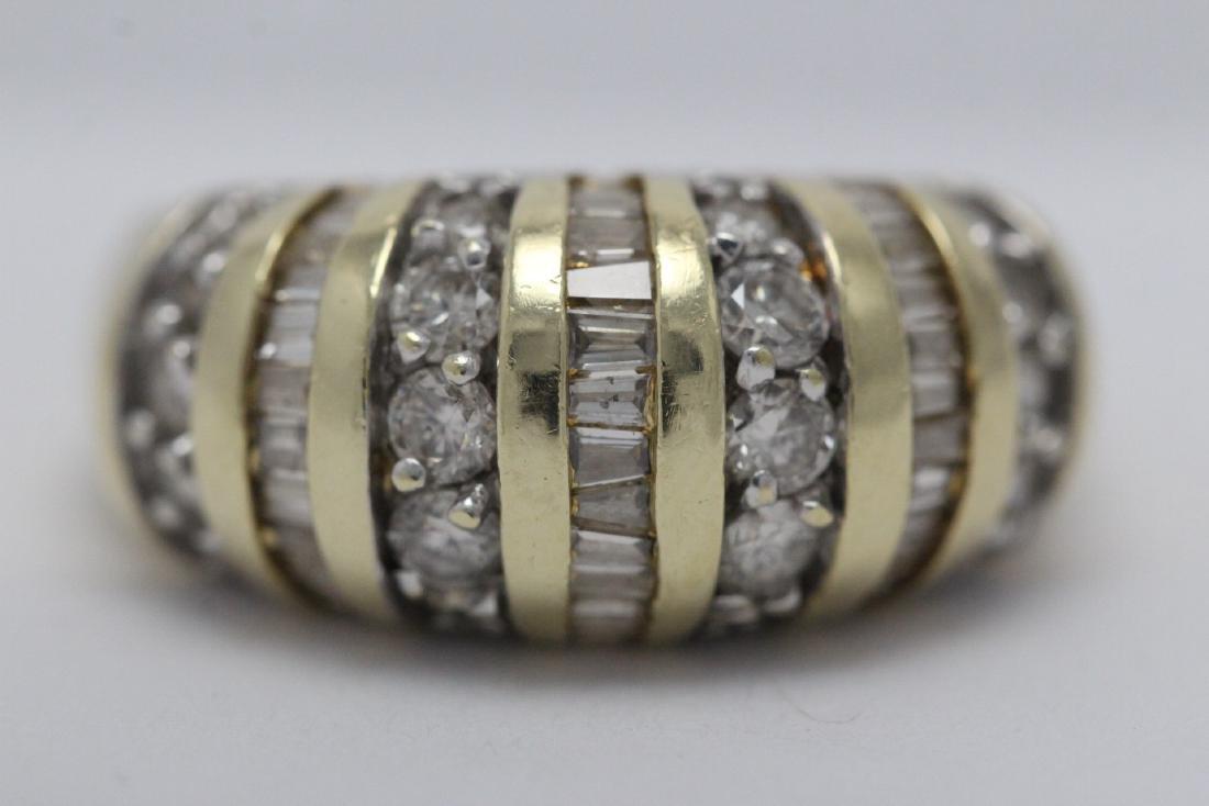 A beautiful 14K Y/G diamond ring - 5