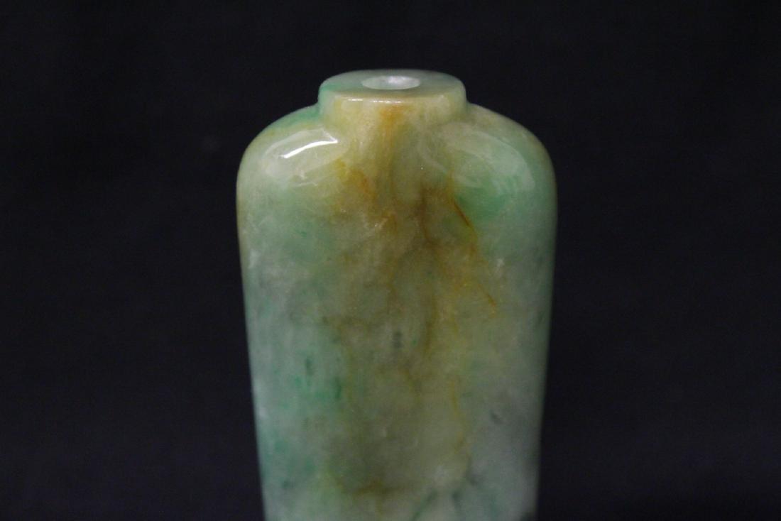 Chinese jadeite snuff bottle - 7