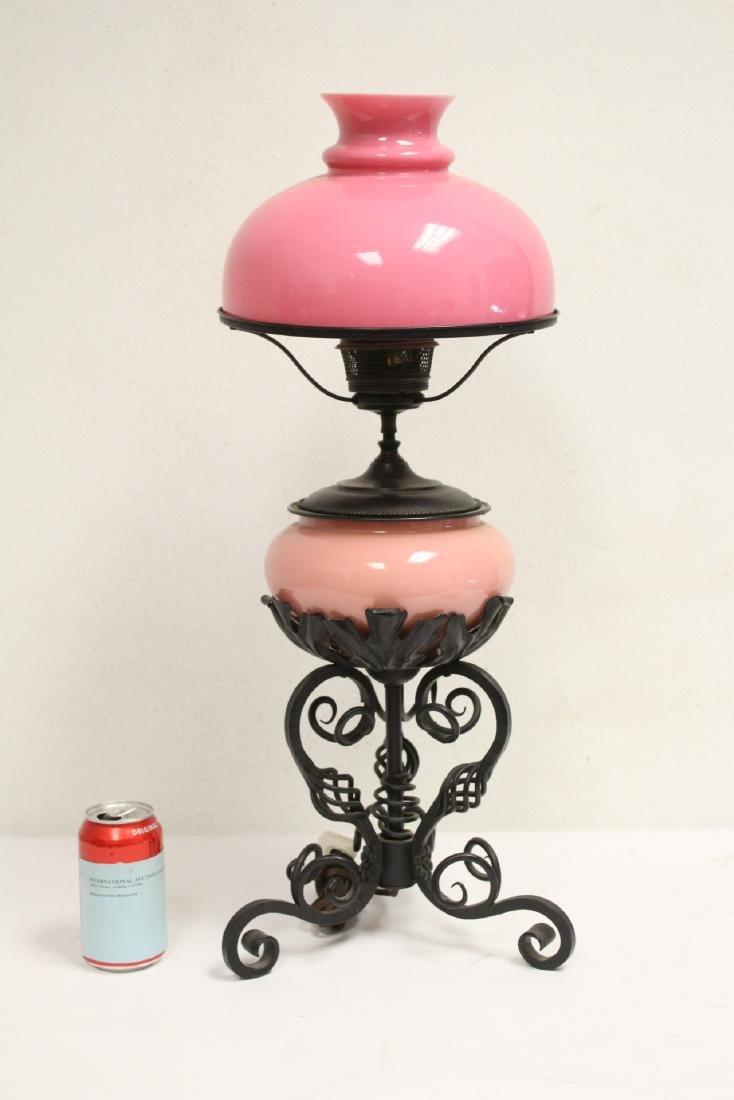 Ornate cast iron table lamp