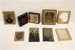 8 Victorian tintype photos