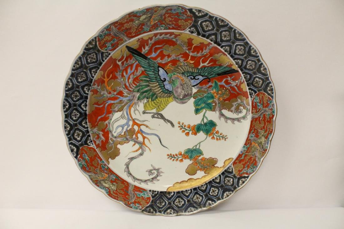 Large antique Japanese imari charger