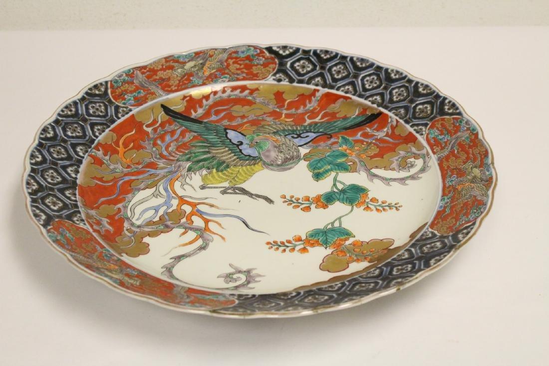 Large antique Japanese imari charger - 3