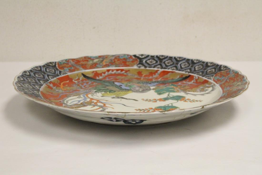 Large antique Japanese imari charger - 4