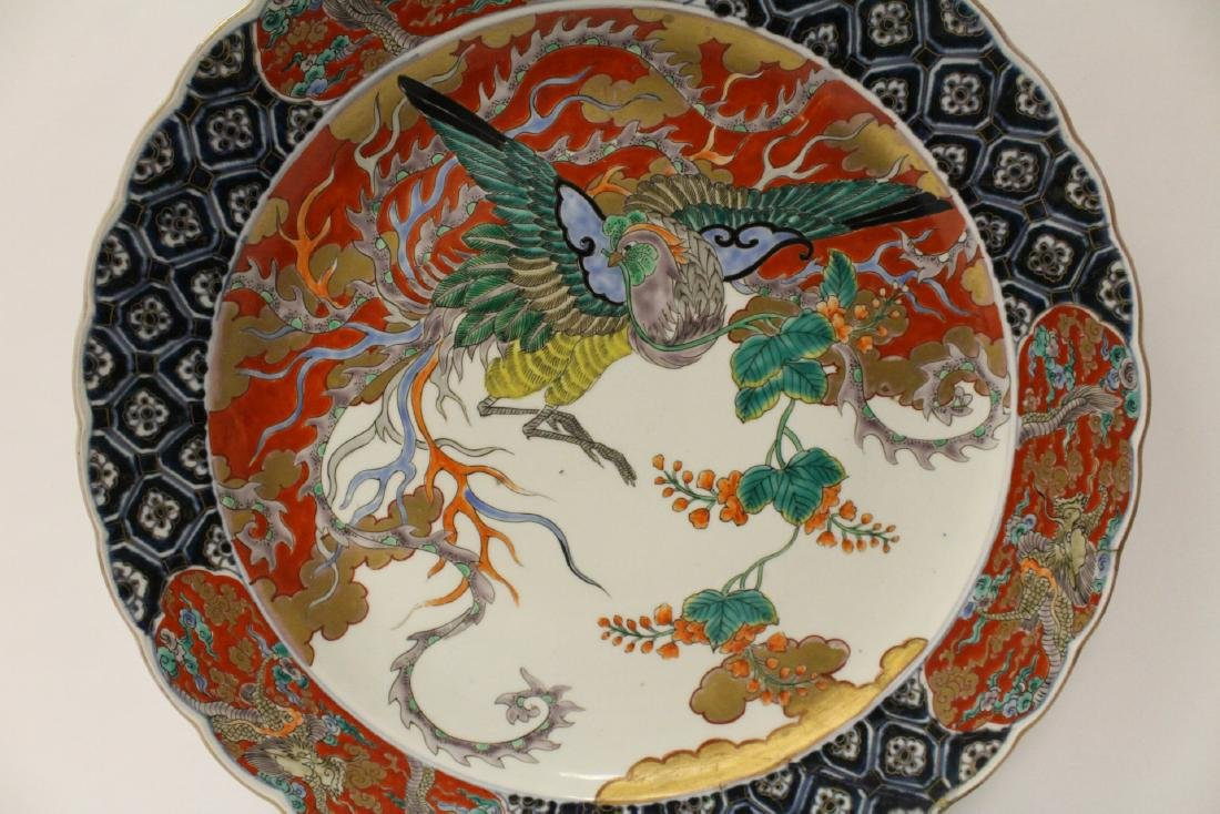 Large antique Japanese imari charger - 5