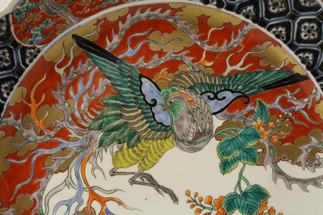 Large antique Japanese imari charger - 6