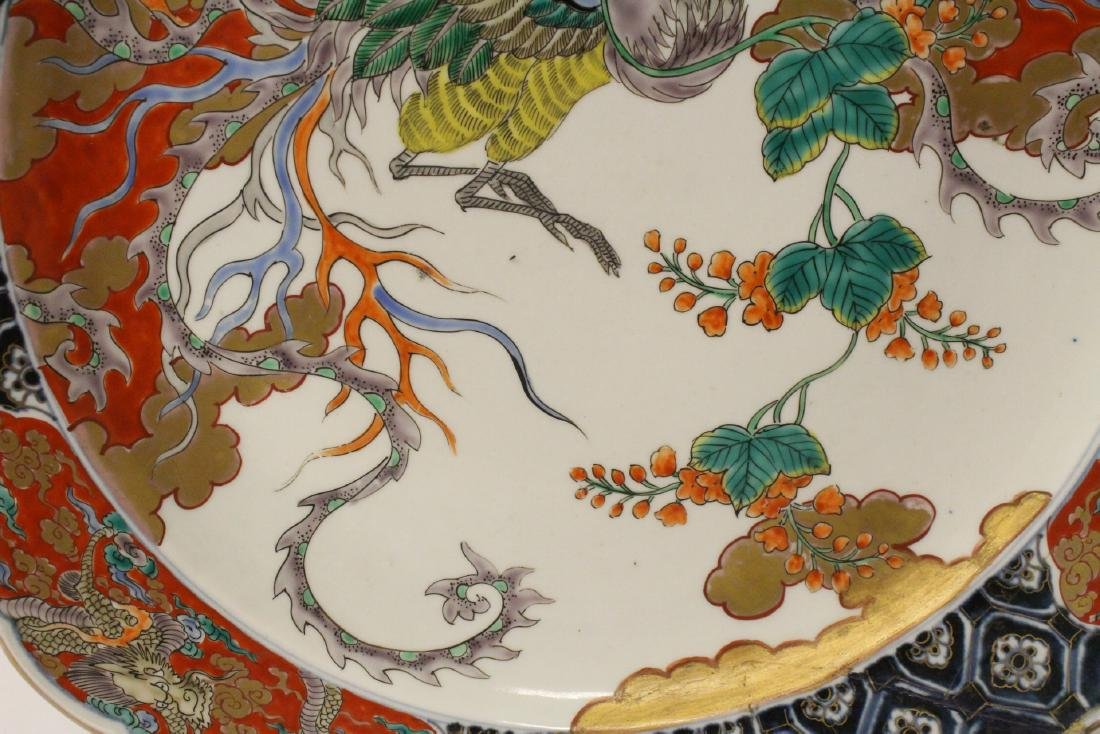 Large antique Japanese imari charger - 7
