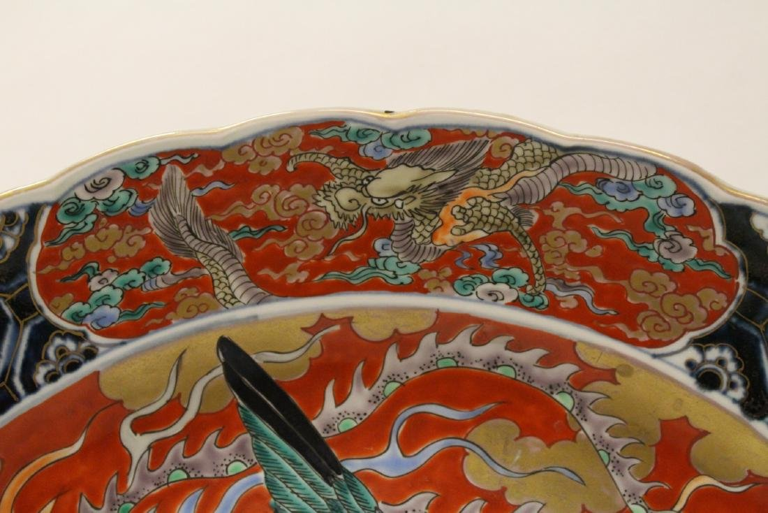 Large antique Japanese imari charger - 8