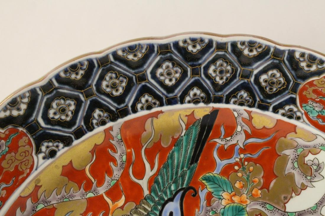 Large antique Japanese imari charger - 9