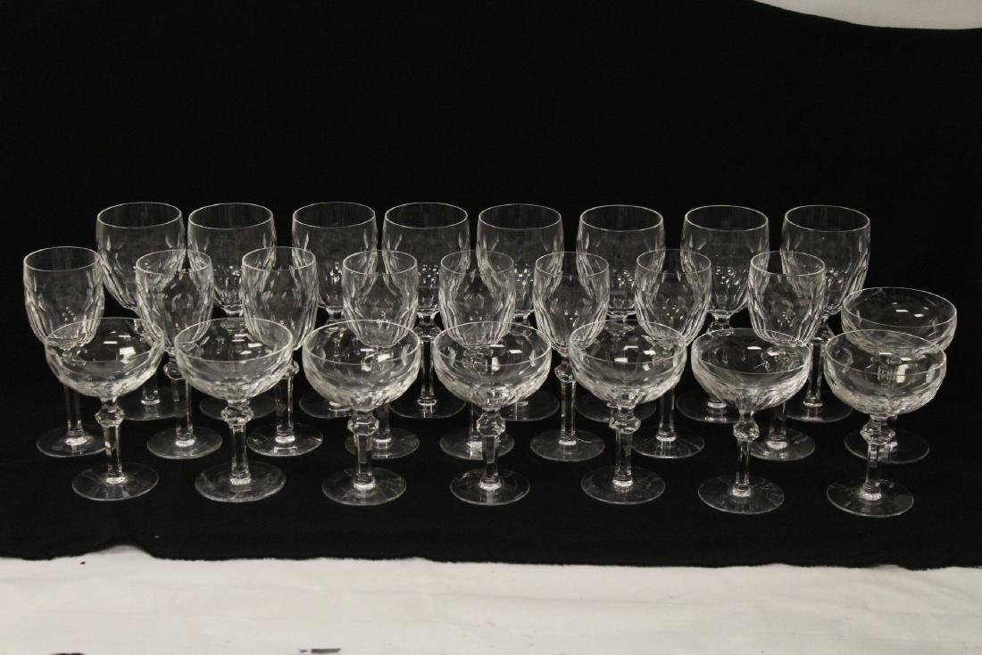 Set of 24 Waterford crystal goblet set