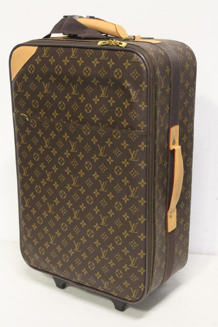 4 Louis Vuitton style leather suitcases - 4