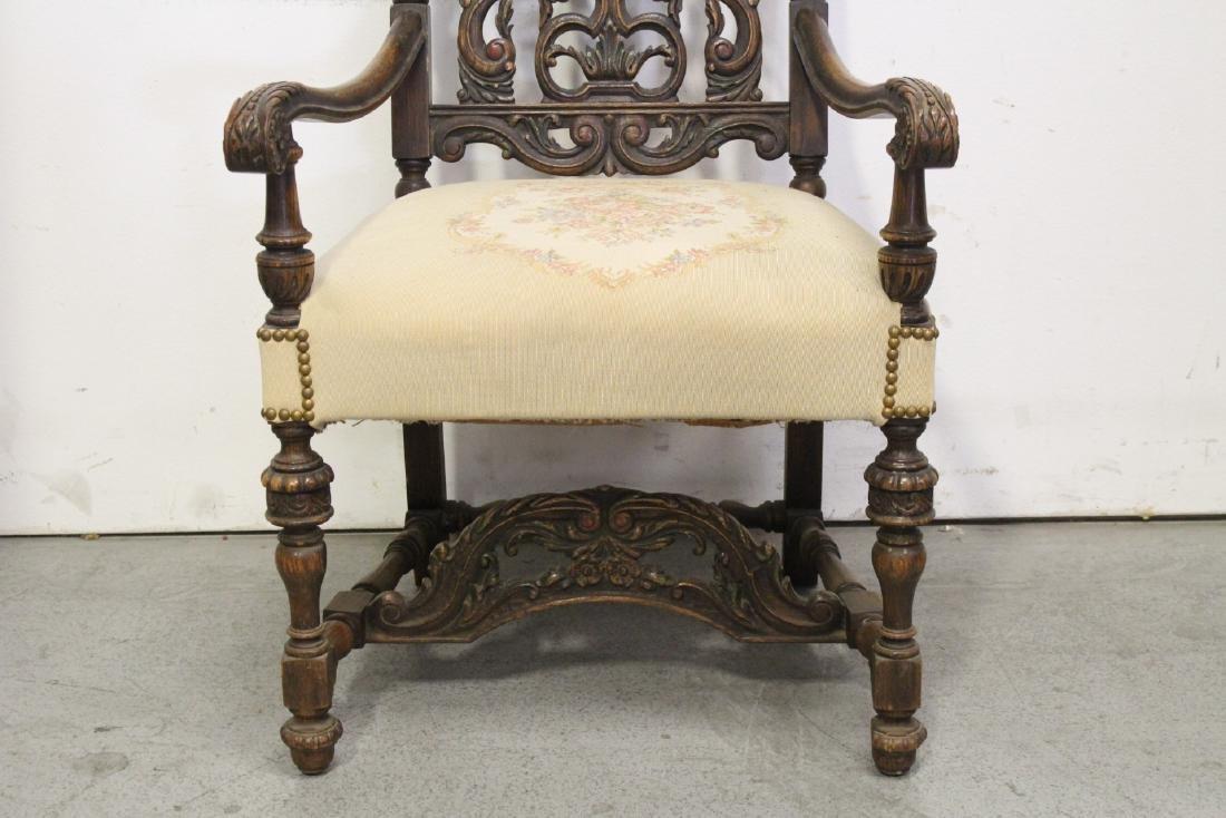 Pair fine 19th century European armchairs - 10