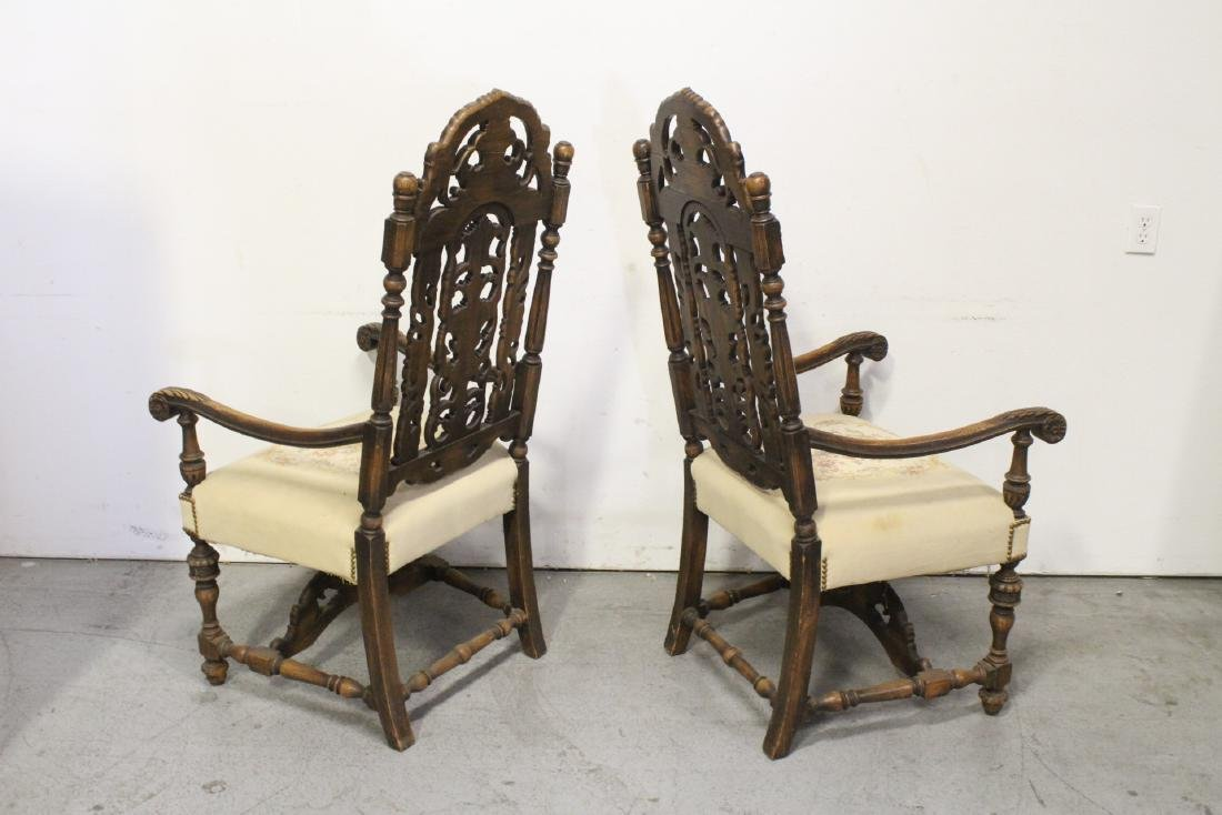 Pair fine 19th century European armchairs - 5