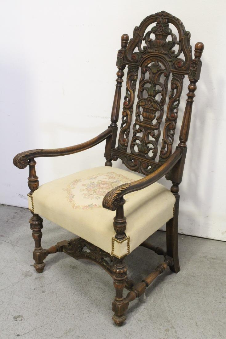 Pair fine 19th century European armchairs - 7