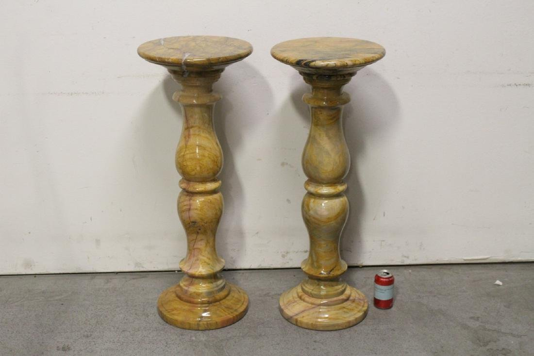 Pair French marble pedestals