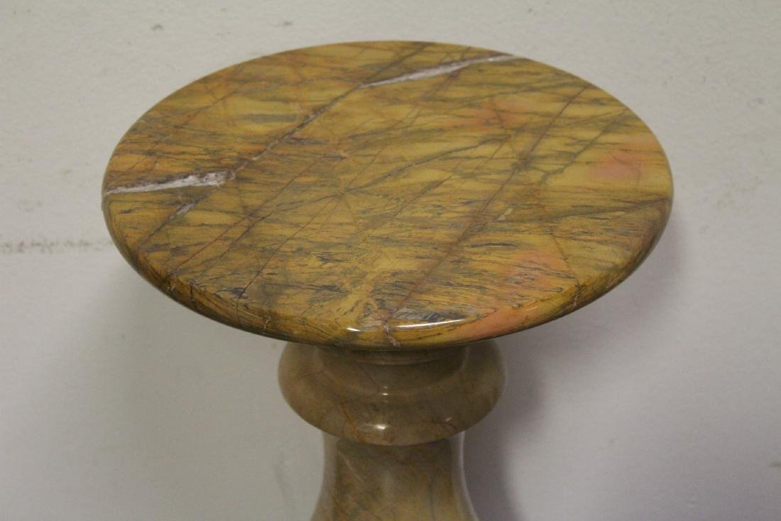 Pair French marble pedestals - 6