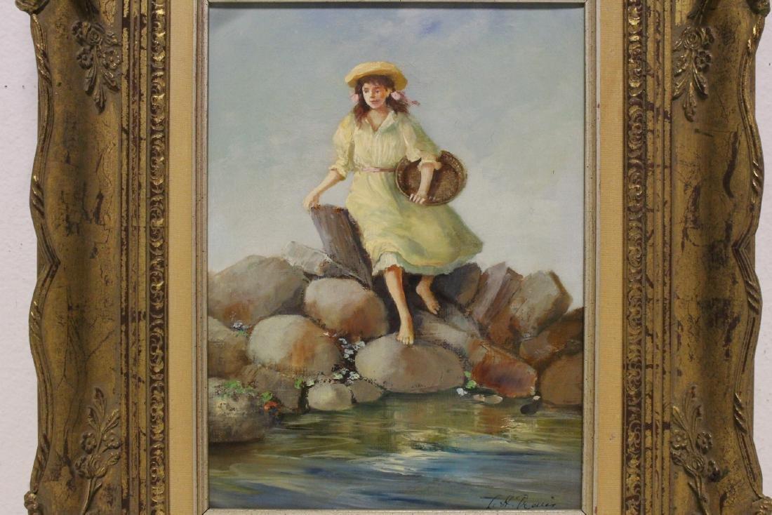 Scandinavian oil on canvas painting - 2