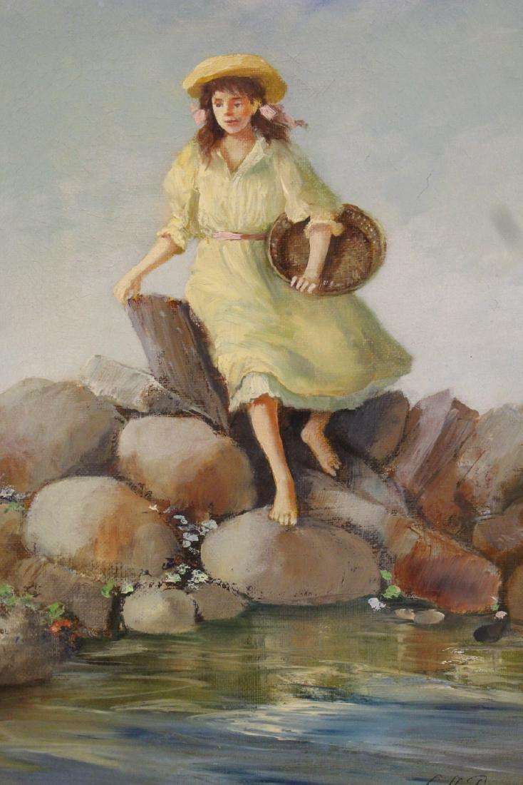 Scandinavian oil on canvas painting - 3