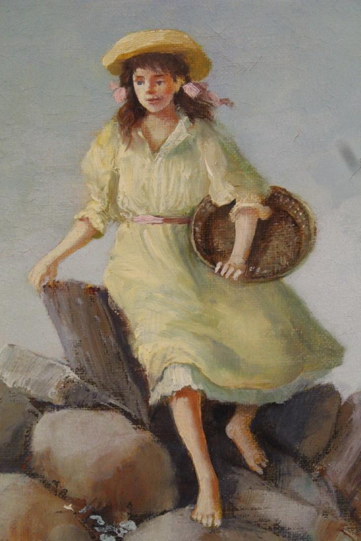 Scandinavian oil on canvas painting - 4